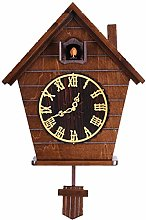 Home Light Control Solid Wood Cuckoo Clock,