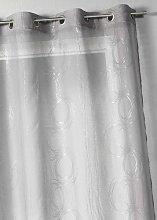Home Maison 806886Muslin Curtain Silver Print