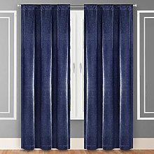 Home Maison Curtain Set, Navy, 38x84