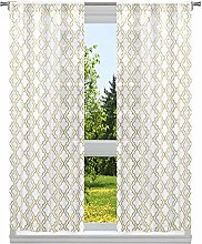 Home Maison Geometric Window Curtain Set,