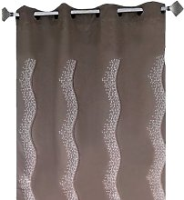 Home Maison HM698860162 Embroidered Panel Curtain