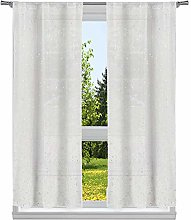 Home Maison Metallic Puff Print Leaves Window