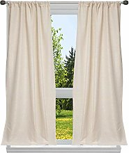 Home Maison Metallic Textured Window Curtain Set,