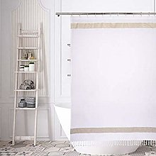 Home Maison shower curtain, White-Linen-Gold, 72x72