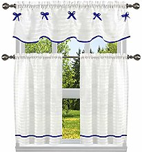 Home Maison Solid Kitchen Curtain & Tier Set,