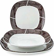 Home Michelle Tableware Set 18 pcs. Porcelain,