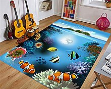 Home Modern Rugs School of fish under the sea Area