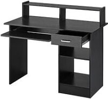 Home Office Black Computer Desk with Drawers