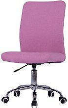 Home Office Chair Height Adjustable Linen Fabric