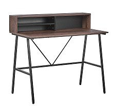 Home Office Desk 100 x 50 cm Dark Wood HARISON