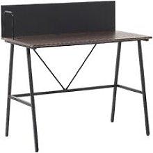 Home Office Desk 100 x 50 cm Dark Wood HASTINGS
