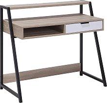 Home Office Desk 100 x 50 cm Light Wood CALVIN