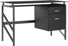 Home Office Desk 117 x 57 cm Black MORITON