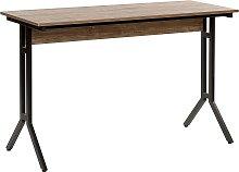 Home Office Desk 120 x 48 cm Dark Wood with Black
