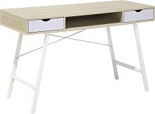 Home Office Desk 120 x 48 cm Light Wood CLARITA