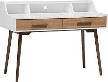 Home Office Desk 120 x 58 cm White with Dark Wood
