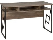 Home Office Desk 120 x 60 cm Dark Wood and Black