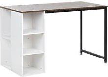 Home Office Desk 120 x 60 cm Dark Wood and White