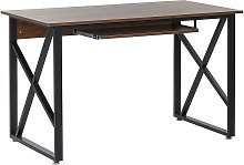 Home Office Desk 120 x 60 cm Dark Wood DARBY