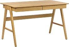 Home Office Desk 120 x 70 cm Light Wood SHESLAY