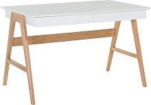 Home Office Desk 120 x 70 cm White SHESLAY