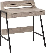 Home Office Desk 73 x 48 cm Light Wood BROXTON