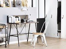 Home Office Desk Dark Wood Top 100 x 50 cm with