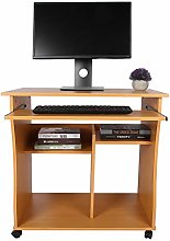 Home Office Desk Wood Computer Desk Compact Small