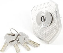 Home Office Silver Tone Security Cylinder Lock + 5