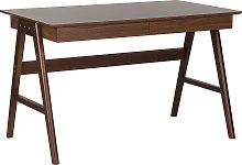 Home Office Walnut Desk Multi-Use Workstation with