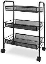 Home Organizer, Storage Trolley, 3 Tier, 63 x 45 x