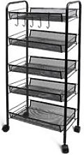 Home Organizer, Storage Trolley, 5 Tier, 105.5 x