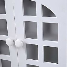 Home PVC double door compartment with drawer