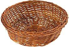 Home Round Basket, Wicker, 10cm, Brown