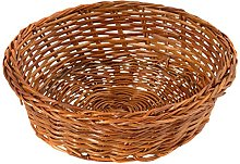 Home Round Basket, Wicker, 10 cm, Brown