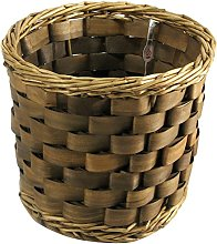 Home Round Basket, Wicker, Brown 21x17 cm brown