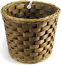 Home Round Basket, Wicker, Brown 35x27 cm brown