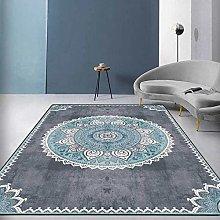 Home Rug Modern Retro Bohemian Style Blue Mandala