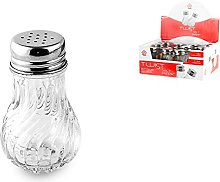 Home Salt/Pepper Shaker with Stopper, Glass,