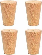 Home Short Sofa Legs 80mm High Solid Wood