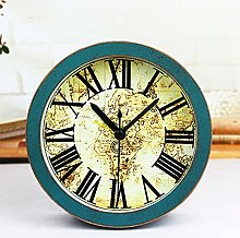 Home Simple Solid Wood Silent Small Clock,