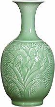 Home Simplicity Vases Ceramics Shadow Blue Carved