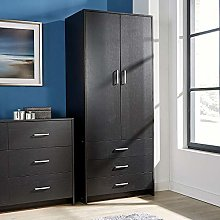 Home Source 2 Door 3 Drawer Wardrobe with Hanging