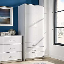 Home Source 4 Door 3 Drawer Wardrobe with Hanging