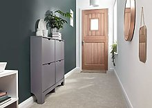 Home Source 4 Drawer Shoe Cabinet Grey