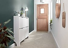 Home Source 4 Drawer Shoe Cabinet White