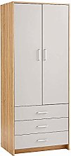 Home Source 5 Door 3 Drawer Wardrobe with Hanging