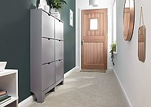 Home Source 6 Drawer Shoe Cabinet Grey