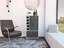 Home Source Bar Storage Cabinet Cupboard in Grey