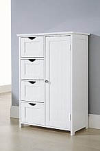 Home Source Bathroom Cabinet White Floor Standing